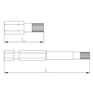 Plano de referencia Puntas Bihexagonal de Speedrill