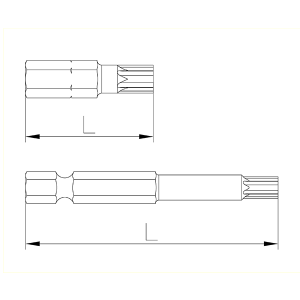 Plano de referencia Puntas Torx de Speedrill