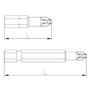 Plano de referencia Puntas Pozidriv de Speedrill