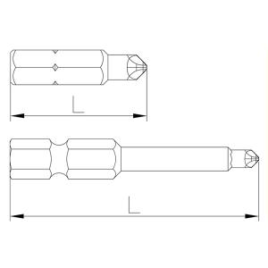 Plano de referencia Puntas Torq-set® de Speedrill